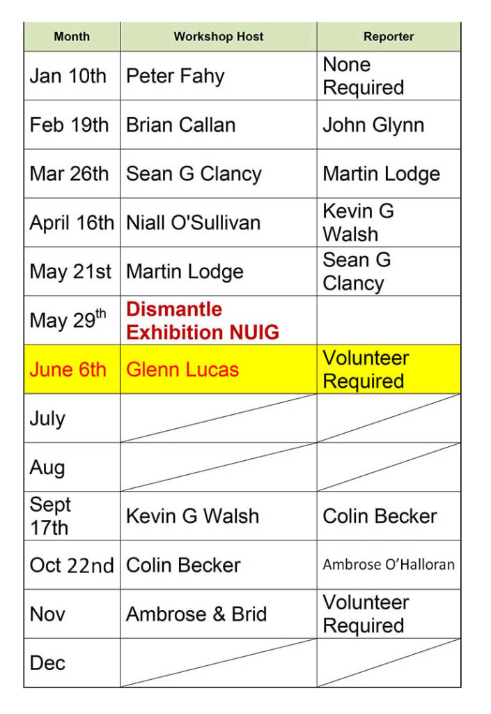 Galway Chapter Events 2015