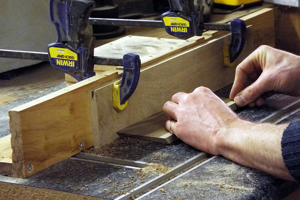 Preparing the sides of the box on the router table